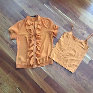 Pumpkin Orange Limited Blouse and Tank